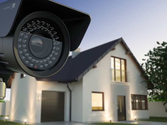Security camera installed in home